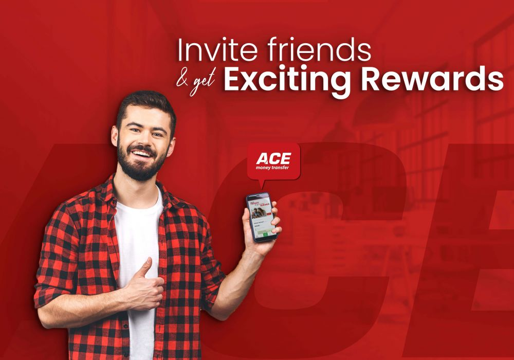 Invite your Friends and Win Exciting Reward Offer With ACE Money Transfer