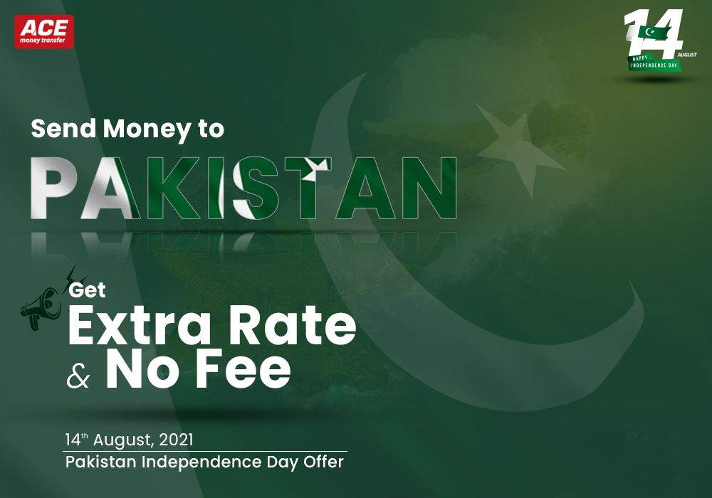 Send Money to Pakistan with Extra Rate & NO Fee